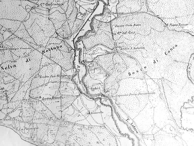 Uno stralcio della carta topografica del 1878