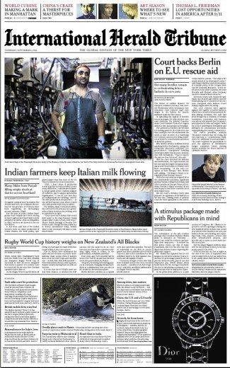 Sull'Herald Tribune