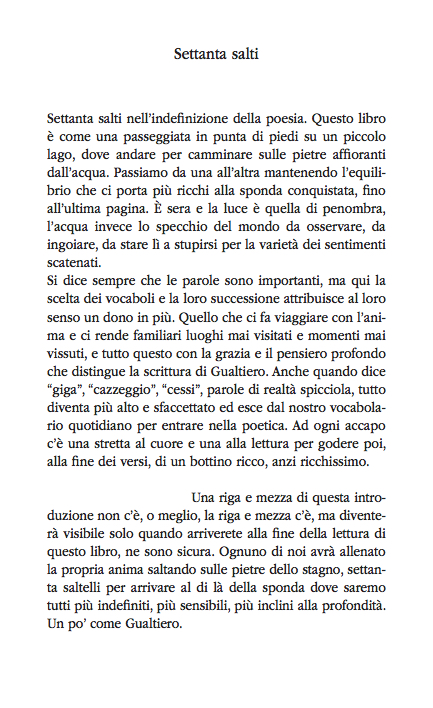 L'introduzione al libro di Gualtiero